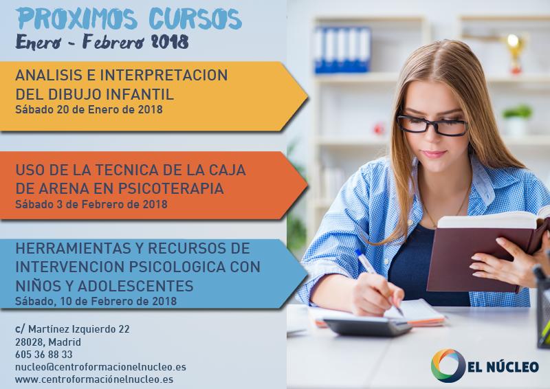 Próximos cursos en El Núcleo (enero – febrero de 2018)