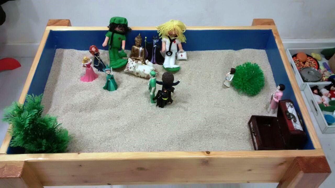 La Técnica De La Caja De Arena Para Grupo 5